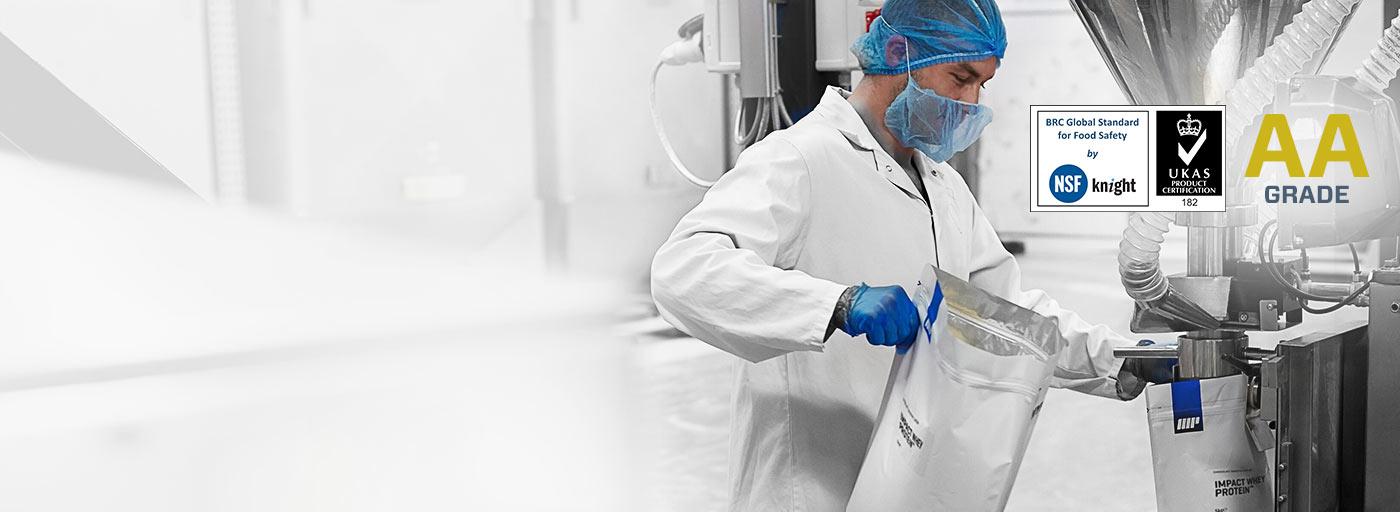 BRC AA razred kvalitetan materijal koji se koristi u myprotein proizvodima