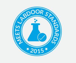 Logo pokazuje da myprotein proizvodi zadovoljavaju labdoor standarde kvalitete za sportske prehrane proizvodima