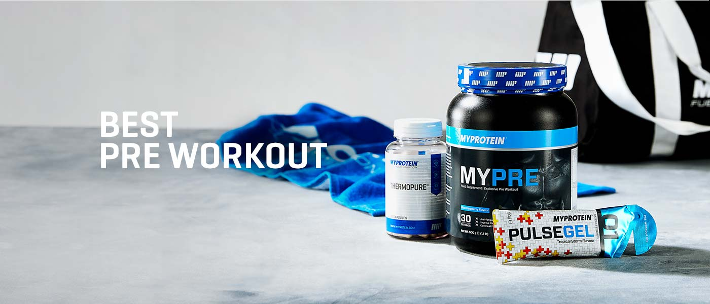 Best pre workout page banner