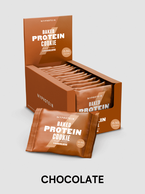 baked protein cookie - treat & snack without cheat with high amounts of protein