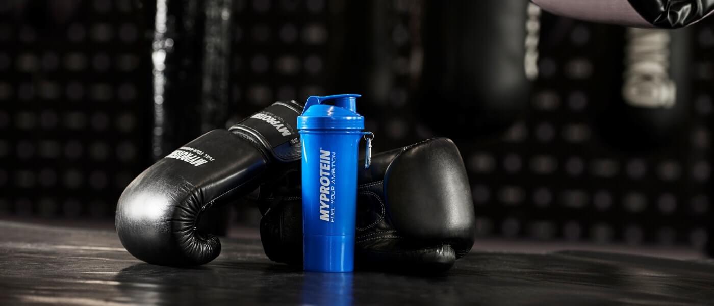 Myprotein produkter perfekt for boksing og kampsport incuding preworkout mikser og protein drinker