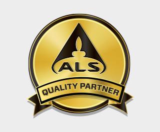 ALS kwaliteit partner logo voor gecertificeerde myprotein producten