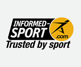 geïnformeerd sport logo voor myprotein producten