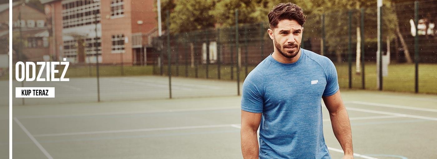 Fitness model venku v myprotein sportovním oblečení