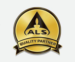 ALS logo partnera jakości dla produktów certyfikowanych myprotein