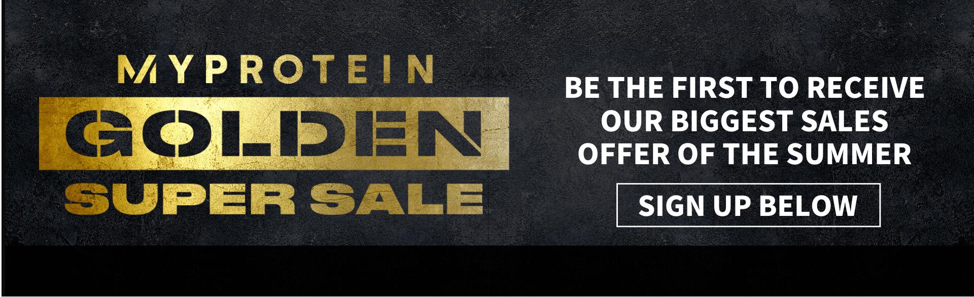 Golden week sale sign  up page