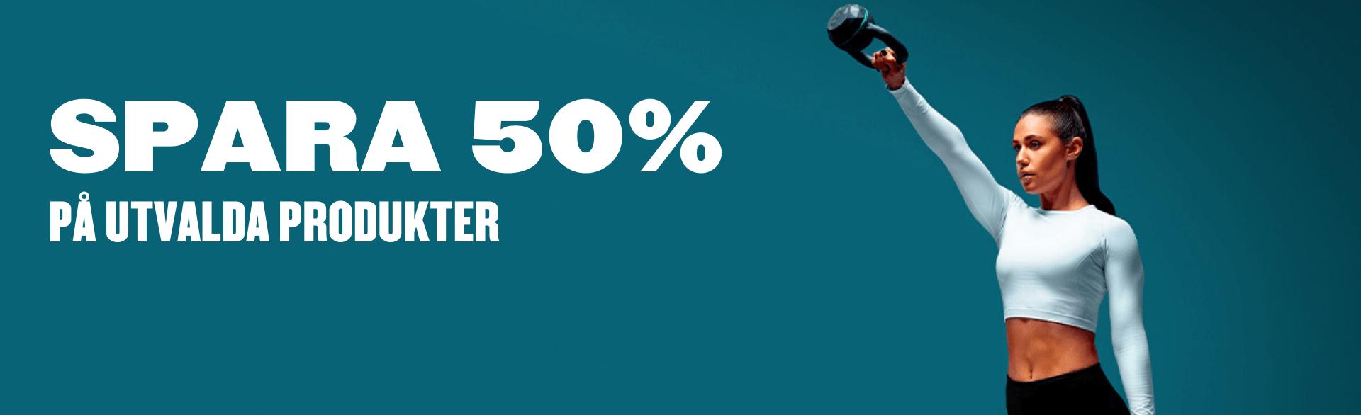 50% på utvalda produkter + 28% på annat