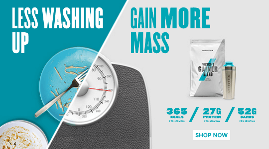 Less washing up. More mass. Shop our range of Gainers.