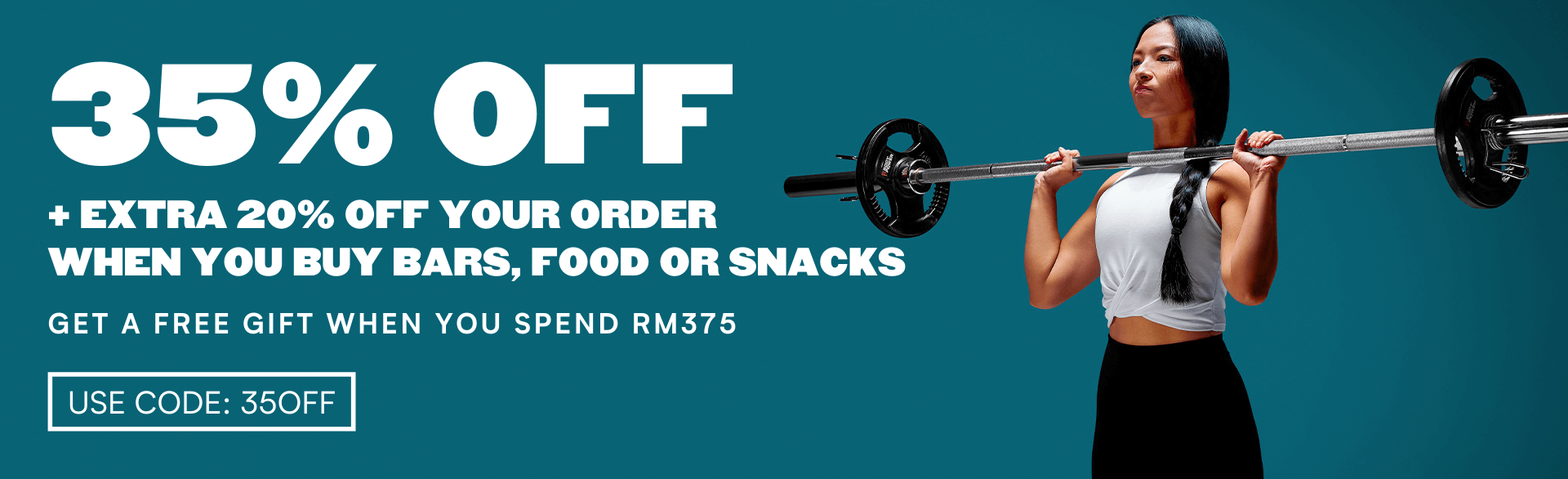 use code: 35off for 35% off plus get extra 20% off when you buy bars, food and snacks