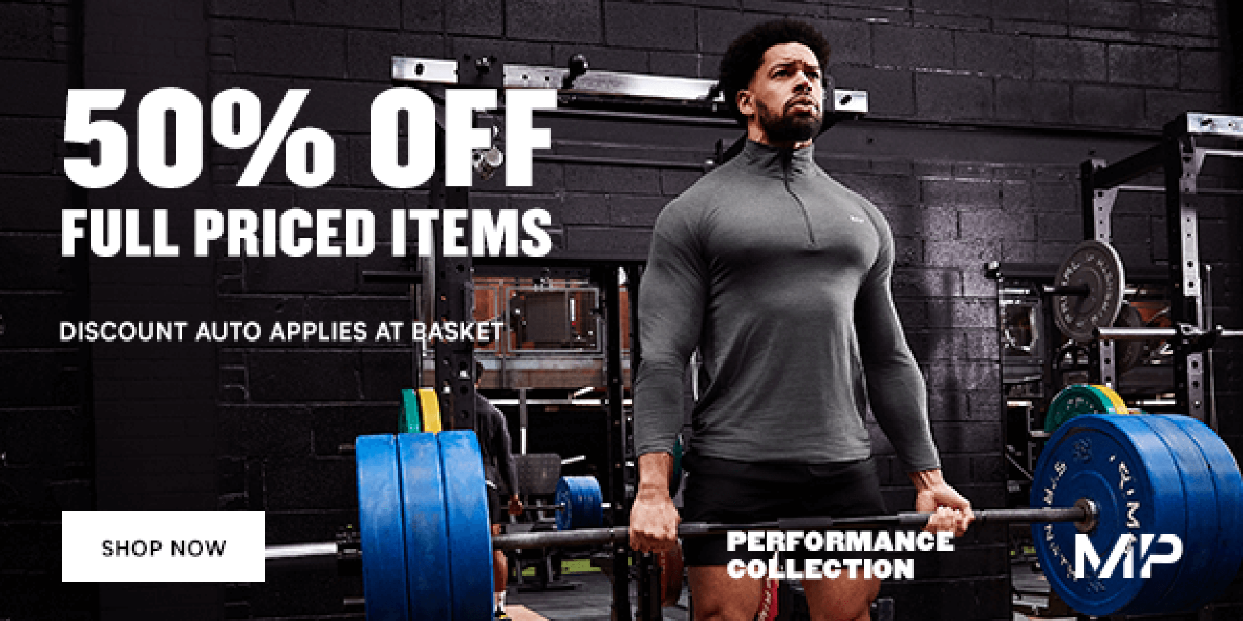 50 % off selected clothing items