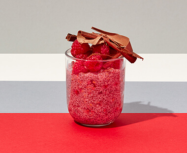Raspberry Chia Seed Pudding