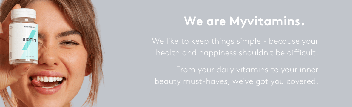 We are Myvitamins. We like to keep things simple - because your health and happiness shouldn't be difficult. From your daily vitamins to your inner beauty must-haves, we've got you covered.