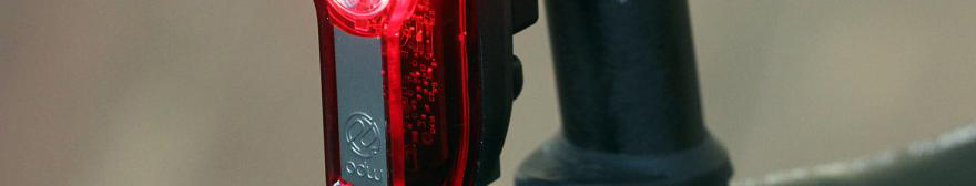 close-up image of a rear light