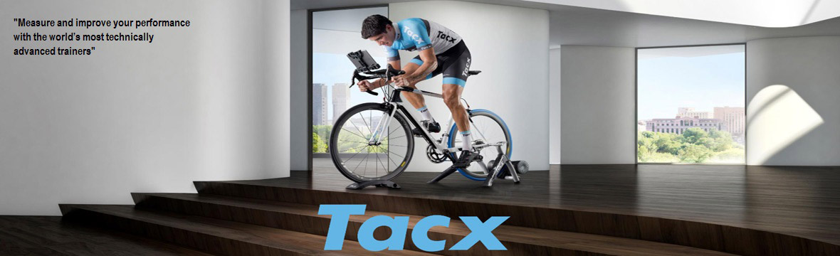 cyclist riding a tacx turbo trainer