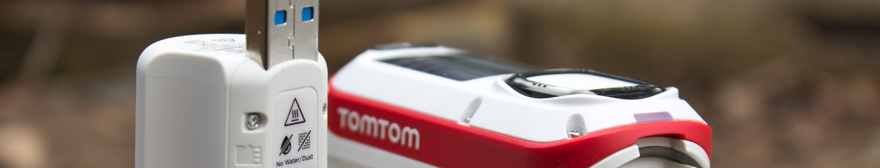 close-up of a tomtom bandit action camera