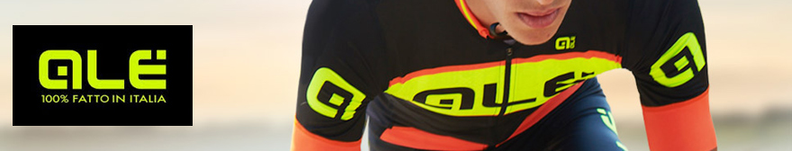 Cyclist wearing the Alé R-EV1 Master Short Sleeve Jersey - Black/Yellow/Orange