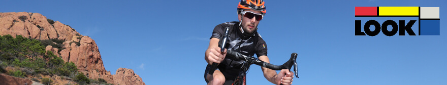 cyclist wearing Look cycling gear