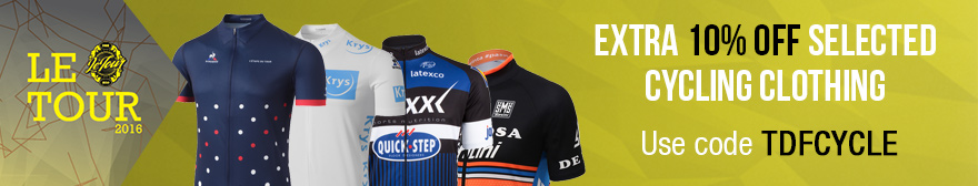 Tour de France Extra 10% off selected clothing