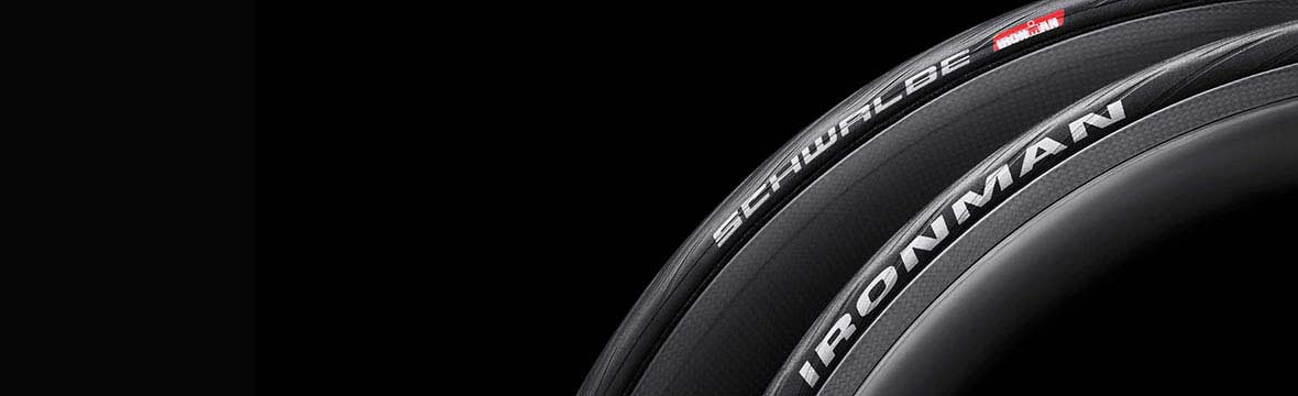 Two Schwalbe bike tyres