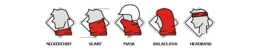illustration of 5 ways how to wear buff headwear