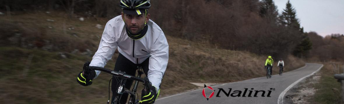 cyclist wearing a white nalini jersey