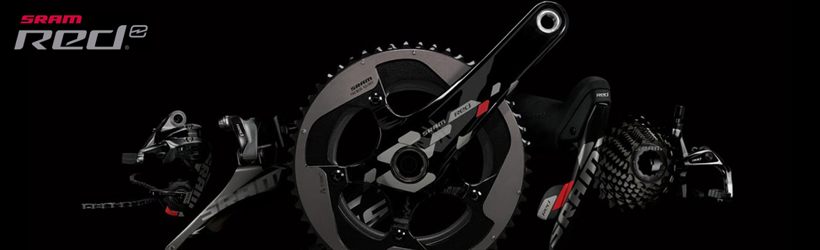 sram groupsets on a black background