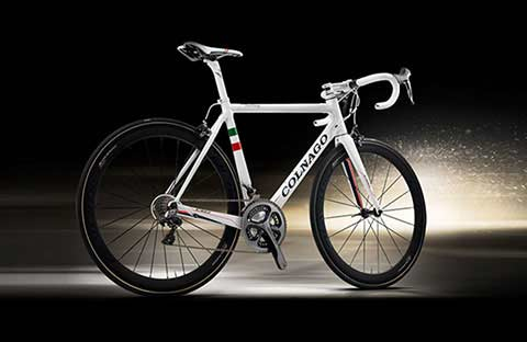 White Colnago bike
