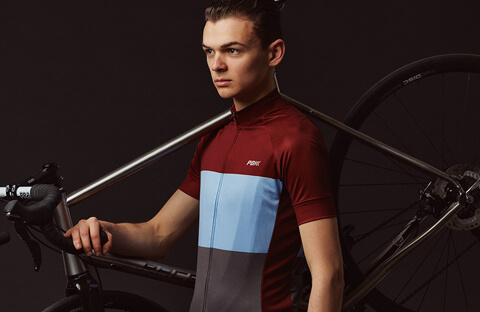 PBK jersey in red/blue/grey