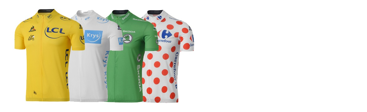 Tour de France winner's jerseys