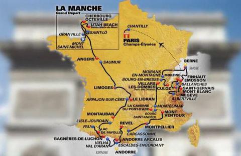Tour de France 2016 route