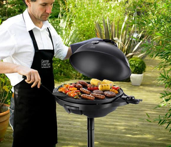 George Foreman Grill für Innen- und Außen mit extra große Grillfläche - Schwarz