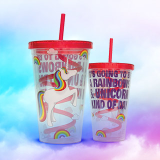 Unicorn Straw Cup