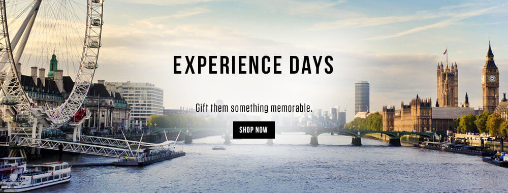 Experience Days - Gift them something memorable - Shop Now