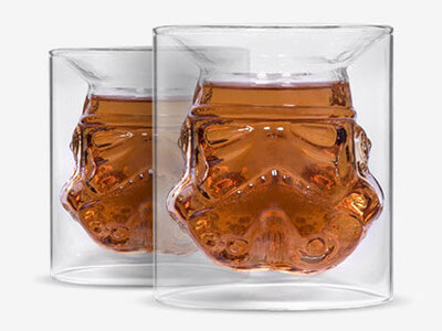 2 Original Star Wars Stormtrooper Glass Tumbler For £14.99