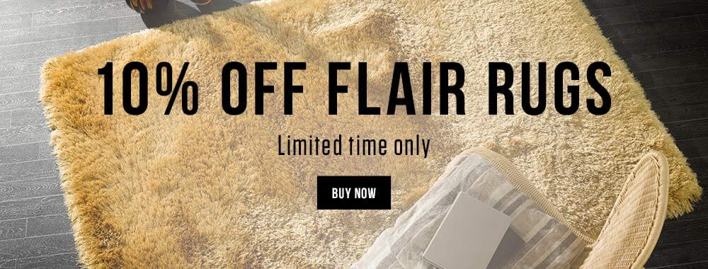 10% off Flair Rugs