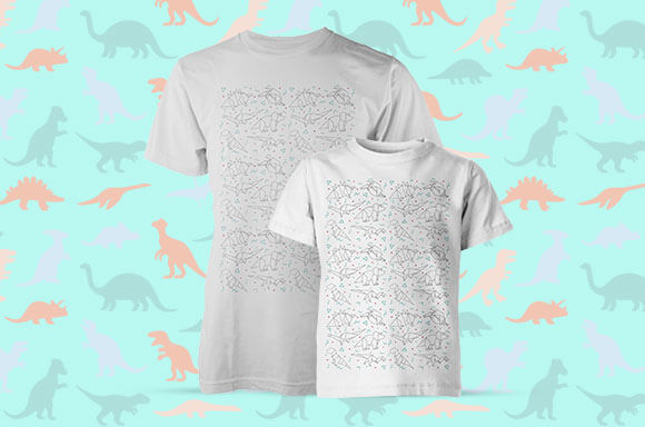 Dinosaur Parent and Child T-Shirts