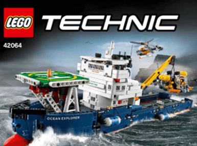 <b>乐高</b> TECHNIC <b>科技系列<br>海洋探勘组合</b> (42064)