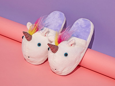 Free Unicorn Slippers when you buy a Unicorn T-Shirt
