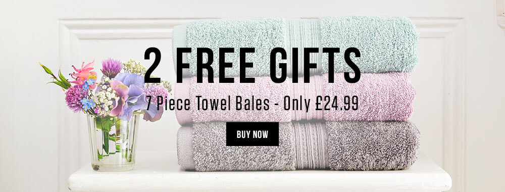 2 Free gifts with 7 piece towel bales
