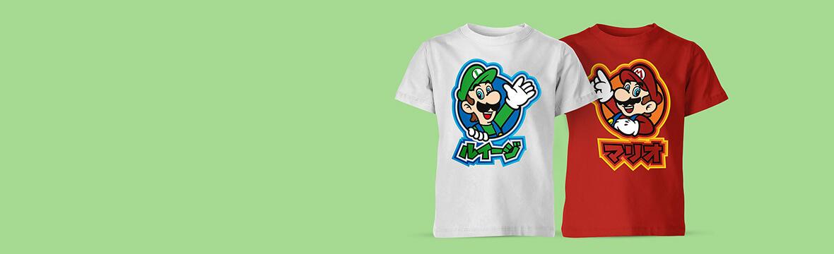 Nintendo Kids T-Shirts <br> 2 for £14.99