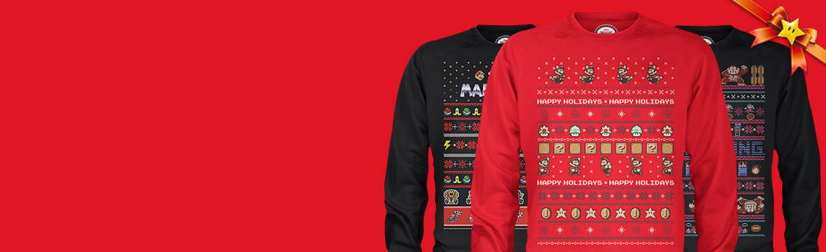 Nintendo Christmas Jumpers only £24.99
