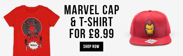 Marvel Cap & T-Shirt for £8.99 - Save over £25 on this marvellous bundle.