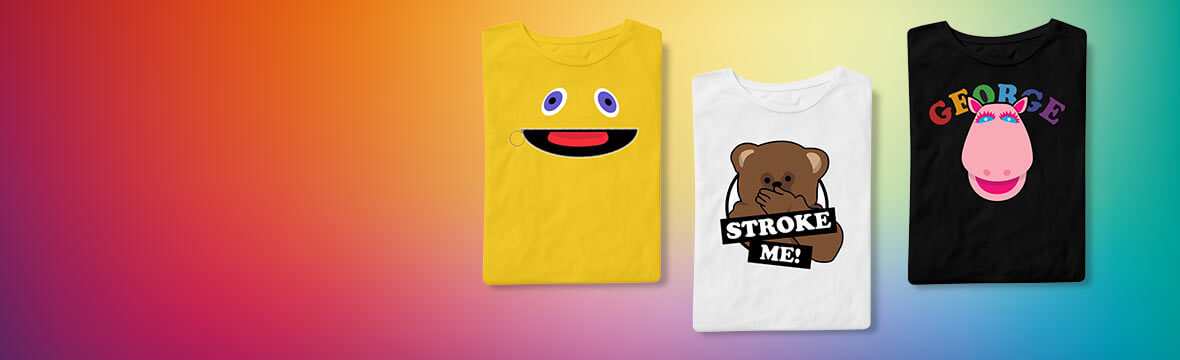 New In! <br> Officially Licensed Rainbow T-Shirts