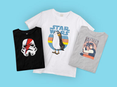 £10 Selected Officially Licensed Star Wars T-Shirts