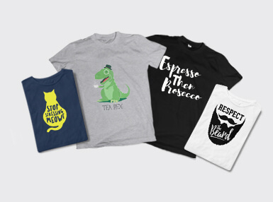 2 For £18 Quirky T-Shirts + Plus Free Delivery