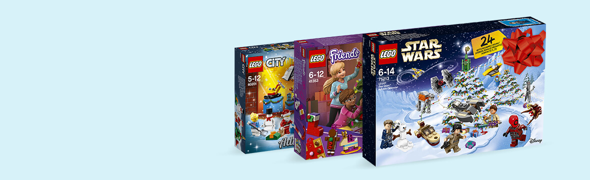 LEGO ADVENT CALENDARS<br>£15 CASHBACK