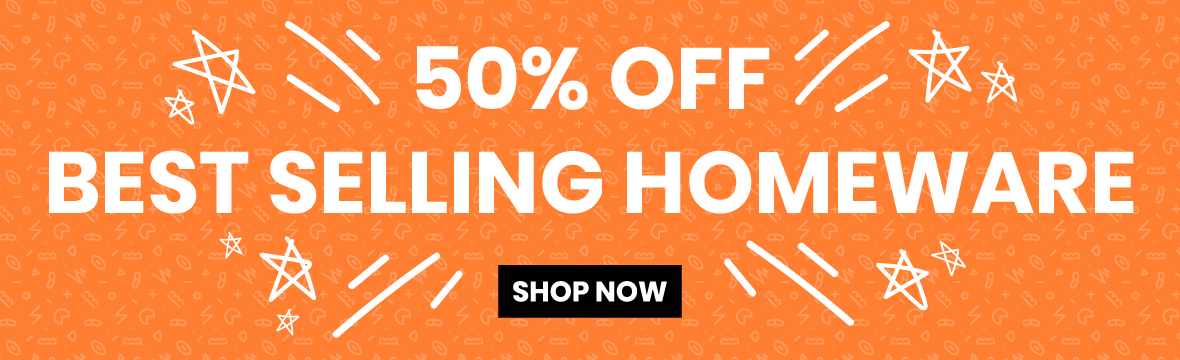 50% off Homeware