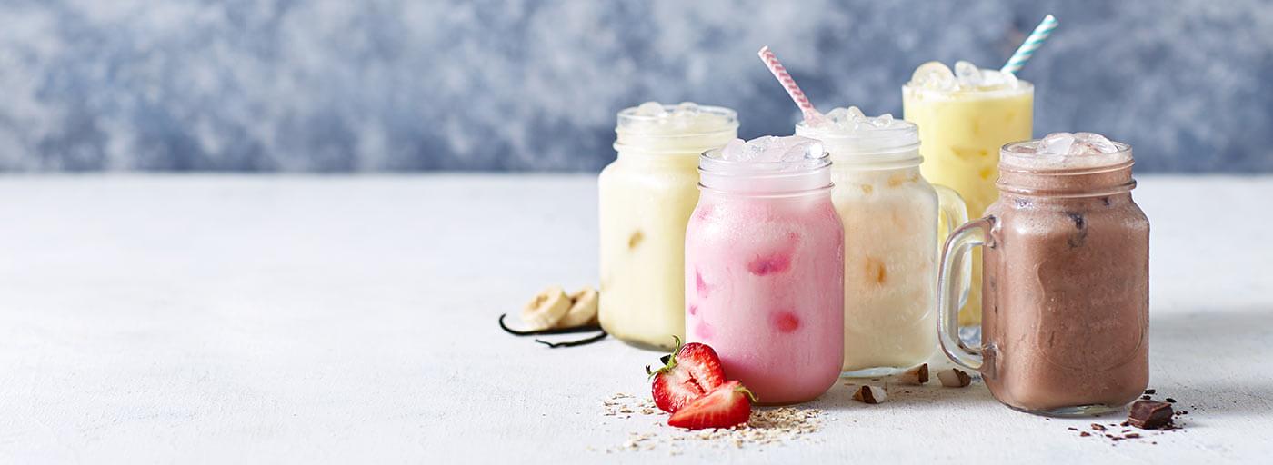 Zuckerreduzierte Shakes