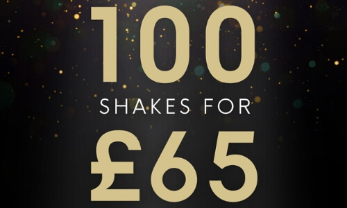Choose 100 of your favourite meal replacement shakes and pay just £65 when you quote BFSHAKE65 at basket.