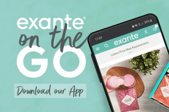 exante on the go 'download our app now'